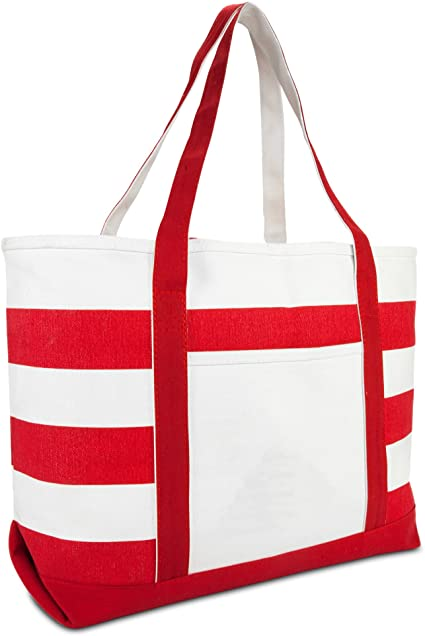 DALIX-Striped-Boat-Bag