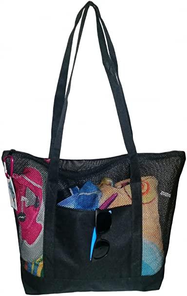 Mesh-Zipper-Beach-Bag